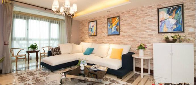 暖色调的客厅,让冬天不再寒冷